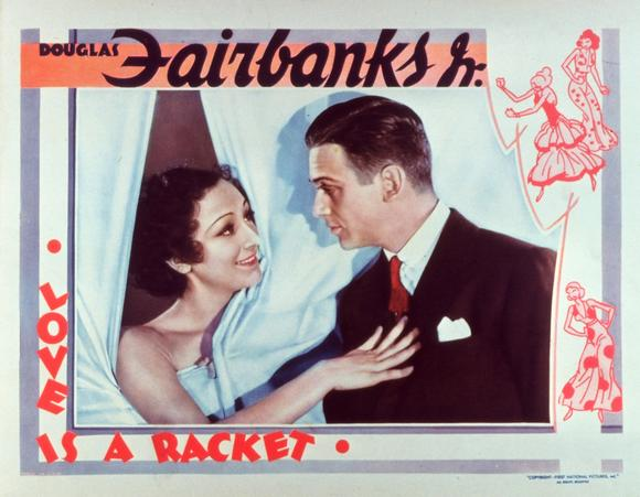 love is a racket Lobby Card